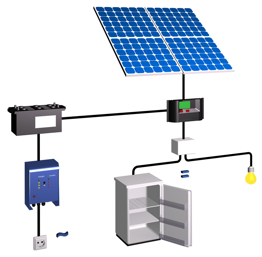 sch ma d 39 une installation photovoltaique autonome